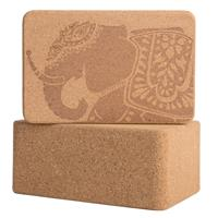 Cork Wood Yoga Blocks with Premium Designs
